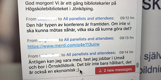 """This kind of conference is the future,"" ""Finally, I can take part,"" and ""This isn't just sustainable; it's also economical."" The participants' encouraging comments streamed into the conference chat window."
