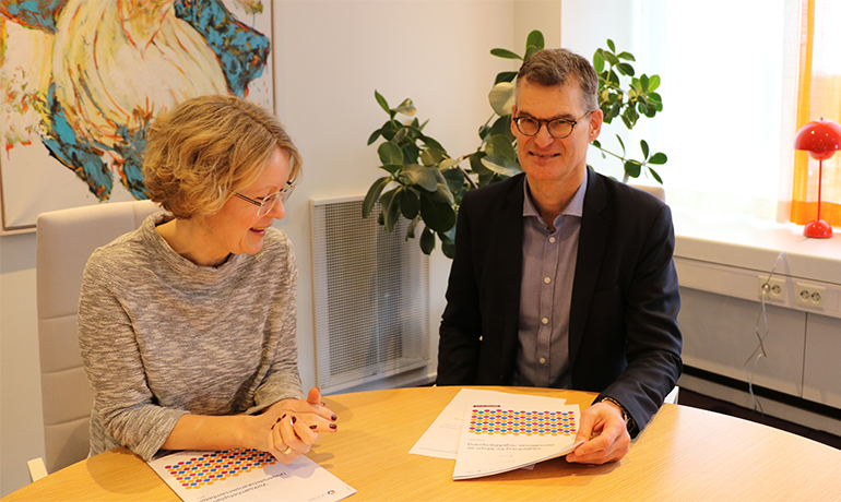 Annika Pontén, acting head of UKÄ, and Christian Sjöstrand, head of department of legal affairs at UKÄ.Pon